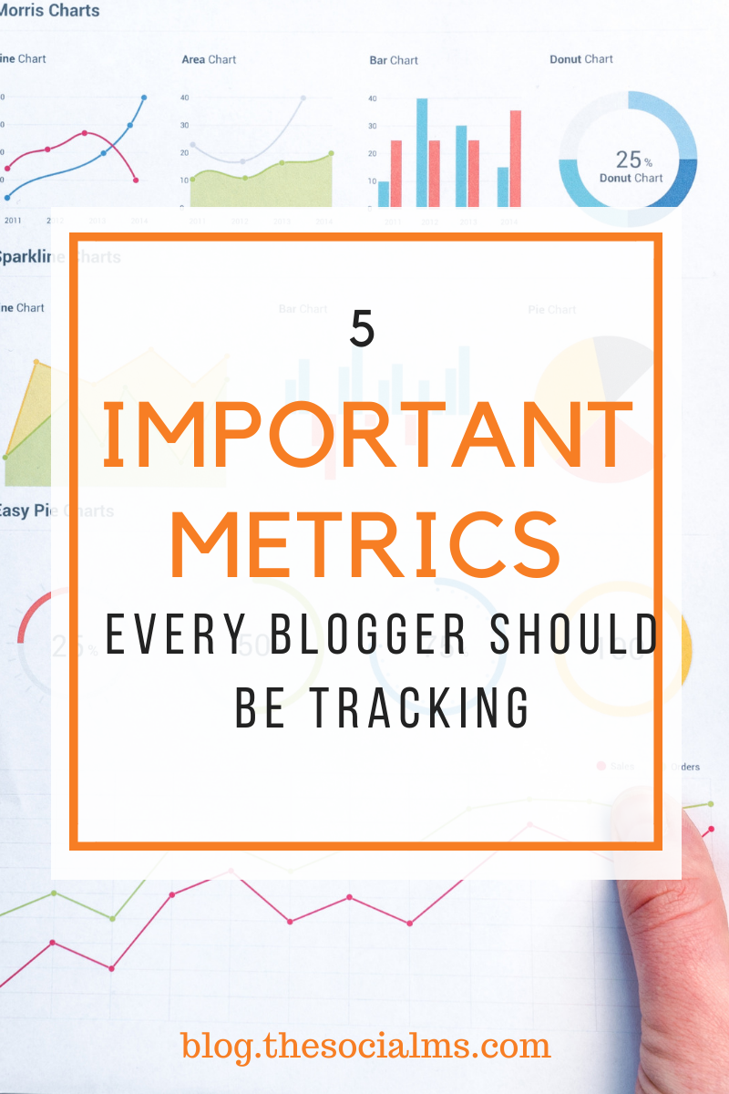 Bloggers are living in a golden age when it comes to access to useful analytics. Everything from the country of your visitors to their individual activities on your site can be tracked, measured and analyzed easily and for little to no cost.  Here are 5 important metrics every blogger should be tracking. #metrics #monitoring #analytics #bloganalytics #bloggingtips #blogoptimization #blogging101 #bloggingforbeginners