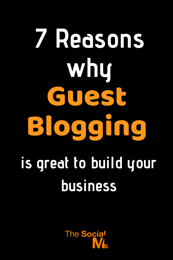 There are many advantages of including guest blogging into your online marketing strategy. To give you an idea, how your own business can profit from writing articles for other blogs, here are just a handful of reasons, why guest blogging is a good idea for marketing your business #guestblogging #guestposting #bloggingtips #smallbusinessmarketing #startupmarketing #onlinebusiness #marketingstrategy #blogging101