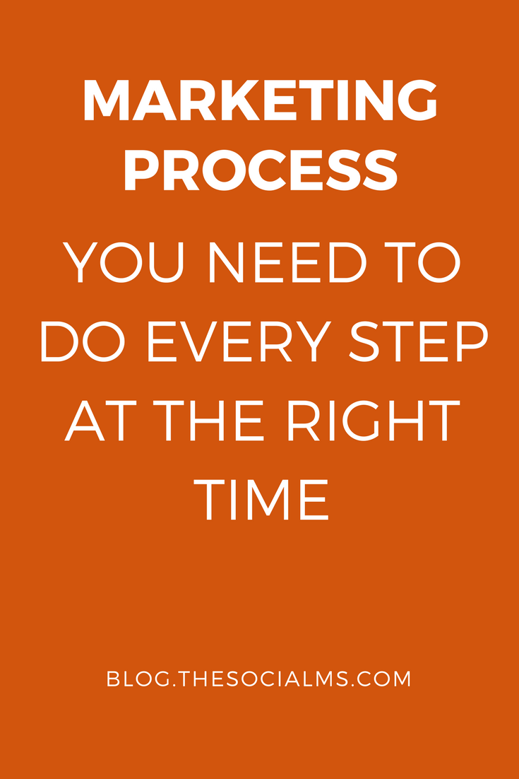 In your marketing process, you need to do the steps in the right order. Doing advanced steps first before you get the basics right will not get you anywhere