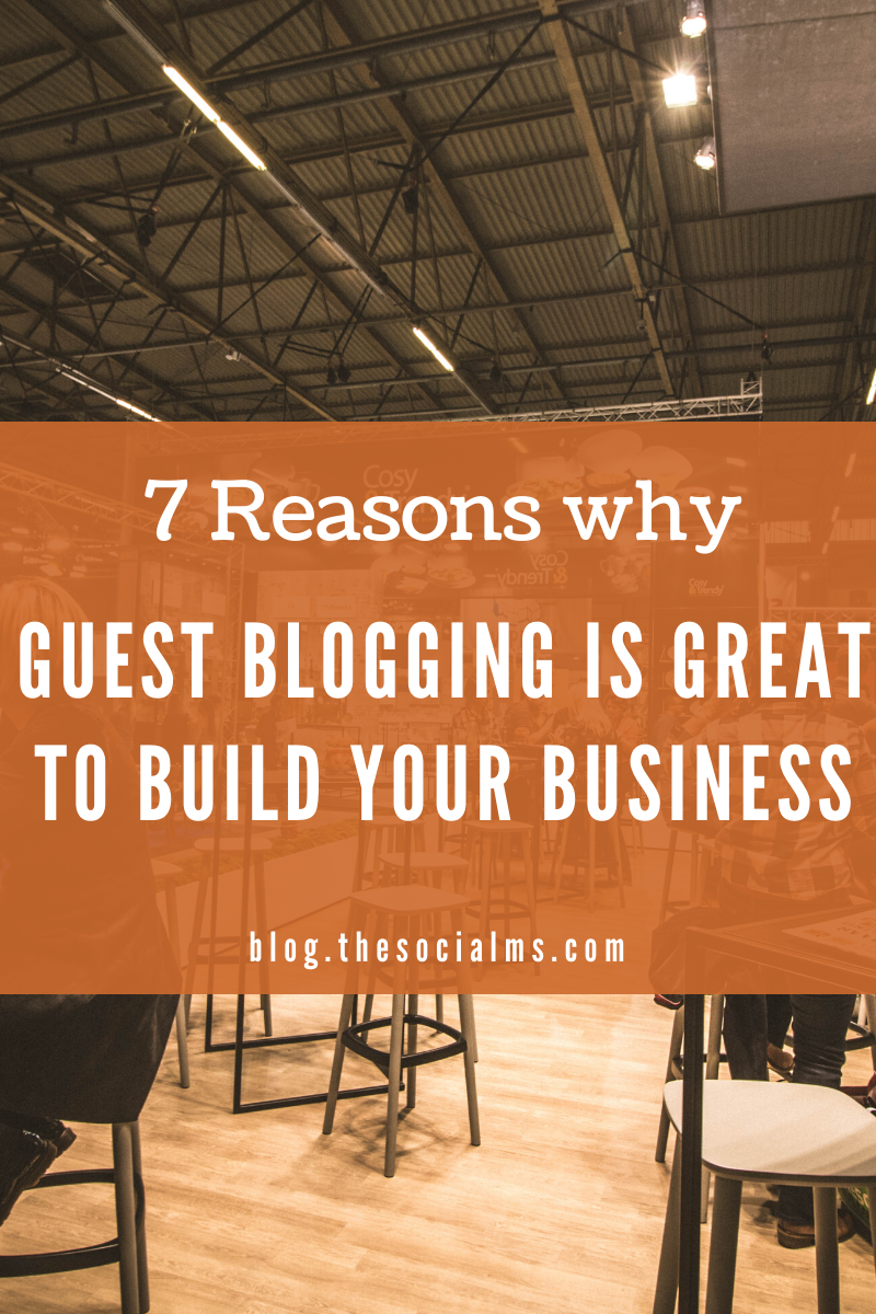 There are huge benefits of guest blogging for any blog or business. Here is why you should consider guest posting as part of your marketing strategy. #guestblogging #guestposting #bloggingtips #marketingstrategy #onlinemarketing #blogging101 #smallbusinessmarketing #startupmarketing