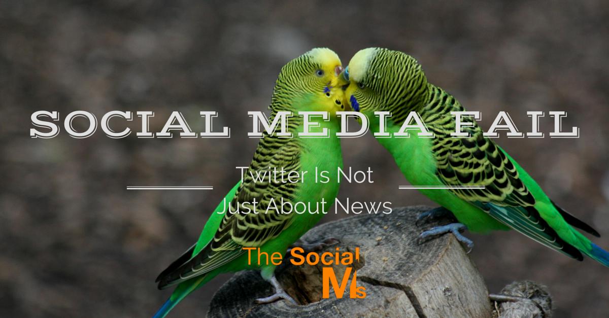 blog.thesocialms.com - Susanna Gebauer - Social Media Fail: Twitter is Not Just About News