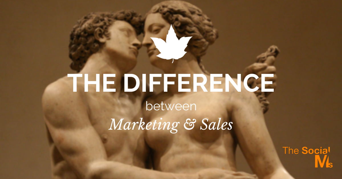 The Difference Marketing Sales