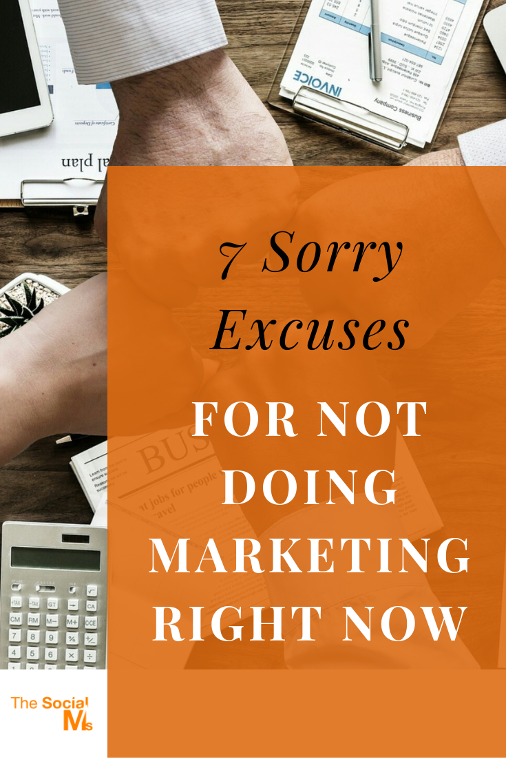 Young companies need marketing. None of the following excuses is good enough to keep you from starting your marketing right now. If you hide behind these sorry excuses you will fail! #startupmarketing #enrepreneurship #smallbusinessmarketing #onlinemarketing #marketingstrategy #onlinebusiness