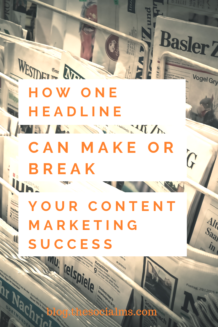 How much time are you spending on your headline or subject line? Often once a text (blog post, email, etc.) is finished, we quickly write a few words that come to mind. #headlines #contentcreation #blogpostcreation #blogwriting #contentmarketing