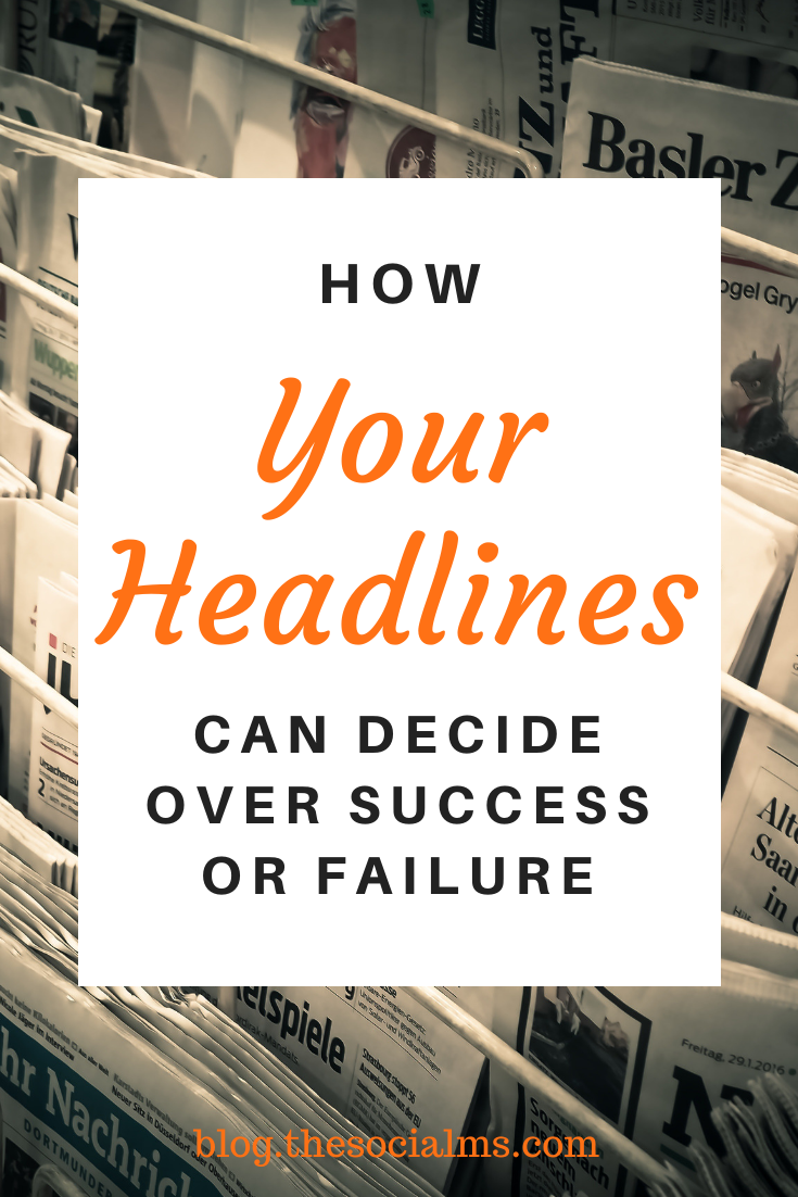 The headline often is the only thing that people get to see before they decide to click on your link or open an email. You have this small fraction of a second to convince your potential audience that it is worth to open your content for more information. Here is what you need to know about headlines to help you create better headlines in the future and see more marketing success. #headlines #bloggingtips #contentmarketing #contentcreation #blogwriting #blogpostcreation #bloggingforbeginners