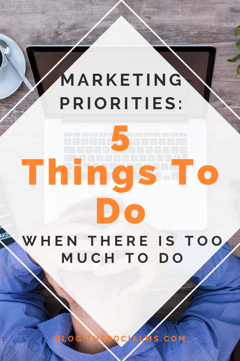 When you are starting to market your company, your services or yourself on social media or elsewhere, there are many things to learn and even more things you can try. You have to set priorities. #marketingpriorities #marketingstrategy #onlinemarketing #digitalmarketing #onlinemarketingstrategy