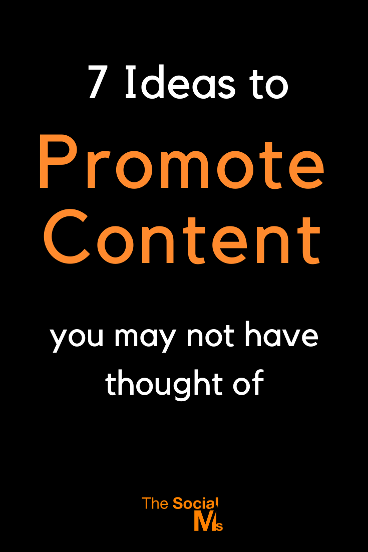 For blogging and content marketing success you have to promote your content.Here are 7 ideas to give a special piece of content an extra boost. #contentpromotion #blogpromotion #bloggingtips #contentmarketing #blogging101 #bloggingforbeginners