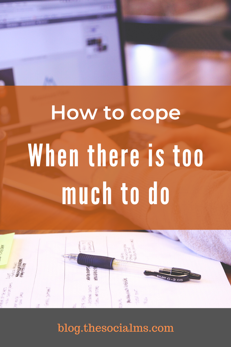 The reality is that marketing consists of many possibilities, options and opportunities. Too many to try them out at once. So many that when you are starting out you will probably be overwhelmed. Here is how to cope when there is too much to do. #onlinemarketing #entrepreneurship #startupmarketing #solopreneur #bloggingtips #marketingstrategy