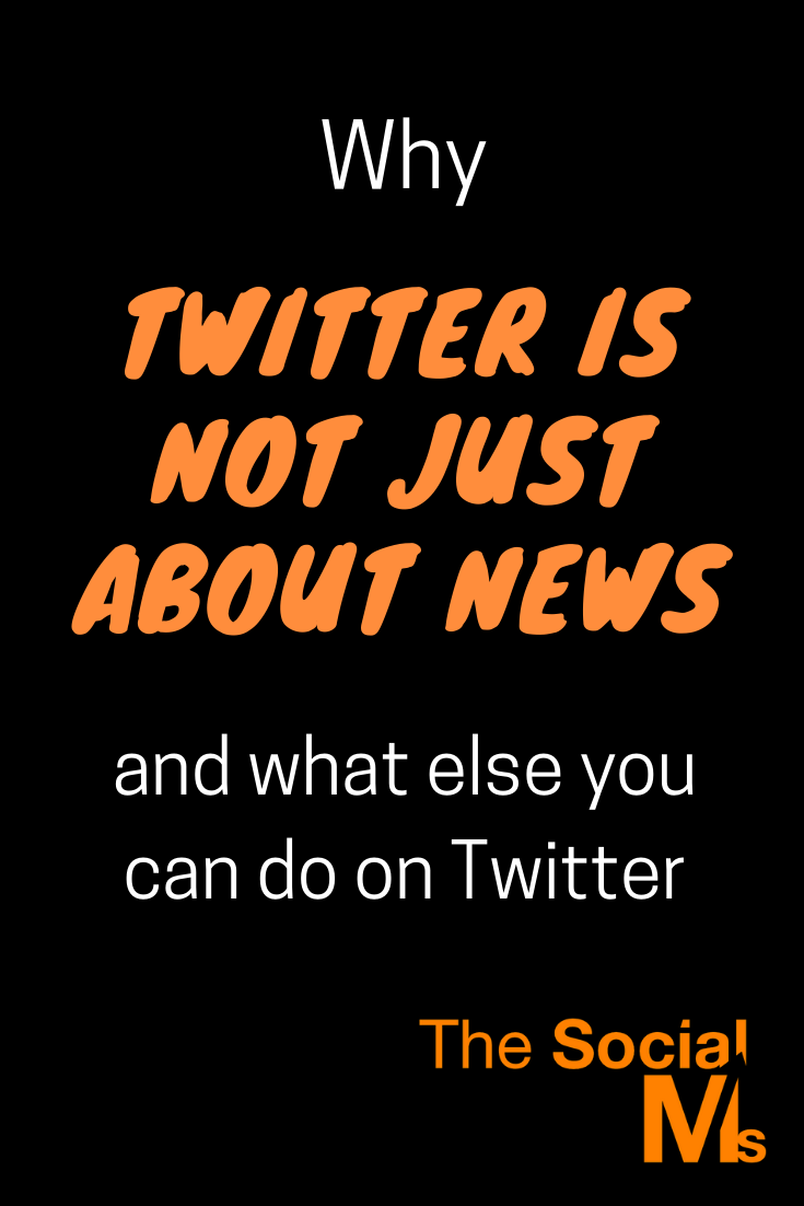 there is no doubt about the fact that Twitter is great for news. But there is a lot more that you can do on Twitter. Here are some ideas how you can use Twitter #twitter #twittertips #twittermarketing #twitterconversations #socialmedia #socialmediamarketing #socialmediatips #marketingstrategy