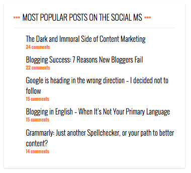 When I want to find out whether a blog has an engaged audience - I look at the comments, not the social shares!