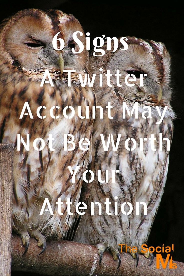 For success on Twitter you need to connect to the right accounts. Some accounts are not worth it. Here are some tips what to look for in a Twitter account