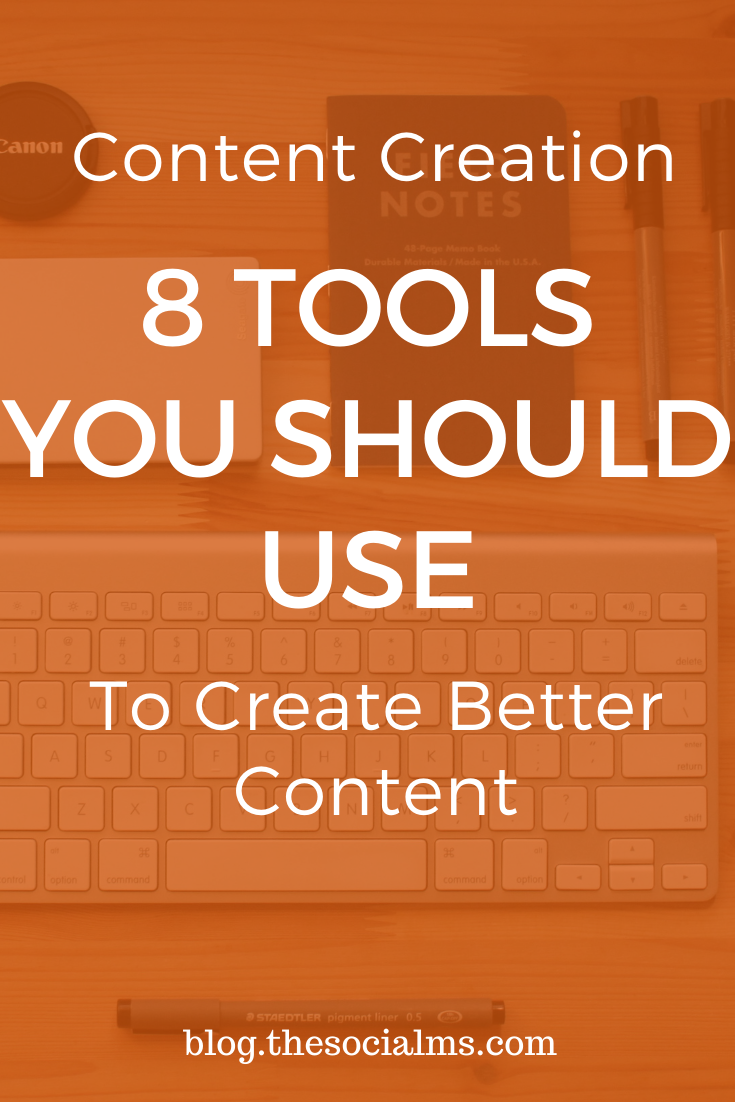 Here are some tools, which can help you create more, better and more efficient content. #contentcreation #contentmarketingtools #contentmarketing #blogwriting #blogpostcreation #bloggingtools