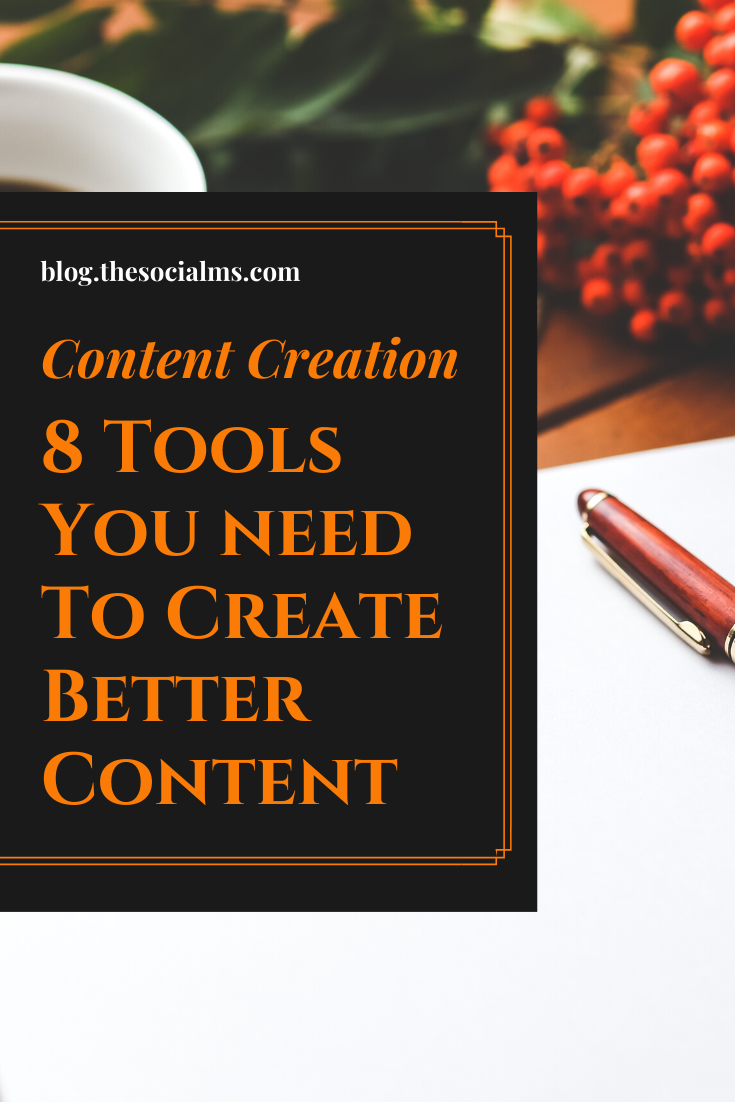 Producing enough and engaging content is one of the biggest challenges for social media and content marketers.  Here are some tools, which can help you create more, better and more efficient content. #contentcreation #blogwriting #blogpostcreation #contentmarketing #contentmarketingtools #marketingtools #bloggingtips #bloggingtools