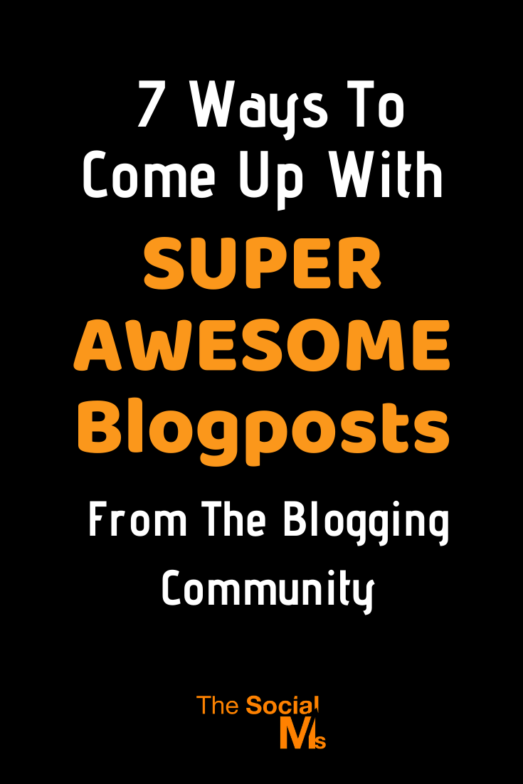 Bloggers, on the other hand, are part of a community. They are not alone. And being part of a community can help you countering blogger's block. Here are 7 ways to find blog post ideas from your blogging community. #blogwriting #blogpostcreation #blogging101 #contentcreation #bloggingforbeginners #startablog