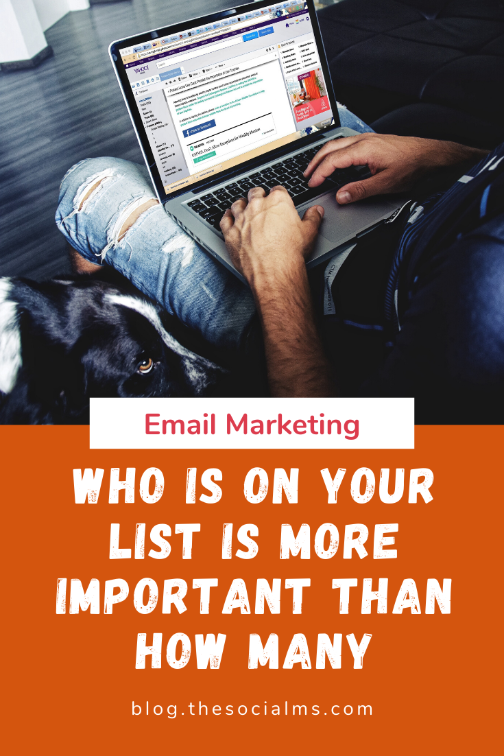 many efforts are directed towards building a list of subscribers in form of a list of email addresses. And rightly so. Email marketing lists have some huge advantages but you have to make sure to have the right people on your email list. #emailmarketing #listbuilding #bloggingtips #onlinebusiness #salesfunnel