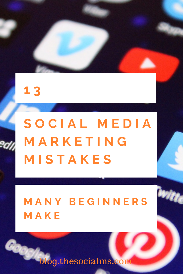 Here are some of the most common social media marketing mistakes we encountered when talking to entrepreneurs and watching their activity in social media – and some ideas how to easily fix the problem. #socialmedia #socialmediamarketing #socialmediatips #socialmediatraffic #socialmediamistakes #marketingmistakes #entrepreneurship