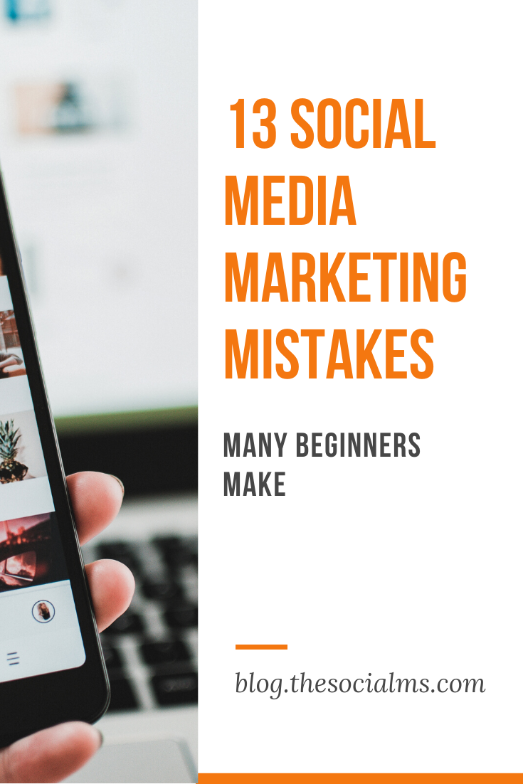 Here are some of the most common social media marketing mistakes we encountered when talking to entrepreneurs and watching their activity in social media – and some ideas about how to easily fix the problem. #socialmedia #socialmediamarketing #socialmediatips #socialmediamarketingmistakes #socialmediamistakes #marketingmistakes