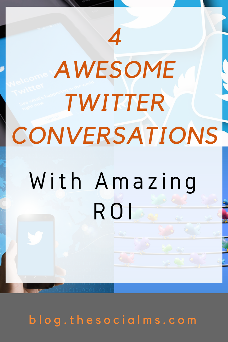 There is a tremendous power to unleash in Twitter conversations. Here are 4 examples of companies, who successfully used Twitter conversations to boost their ROI. #twitter #twitterconversations #twitterfeatures #twitterstrategy #twittertips #twittermarketing #socialmedia