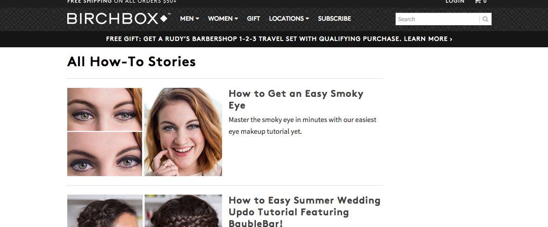 Birchbox content marketing case study