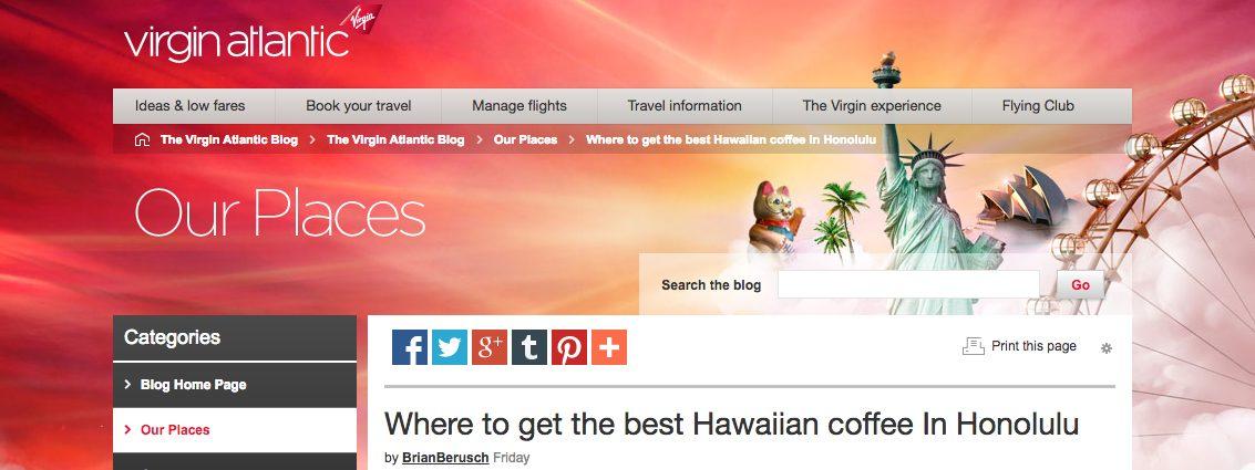 Virgin Atlantic Content Marketing Case study