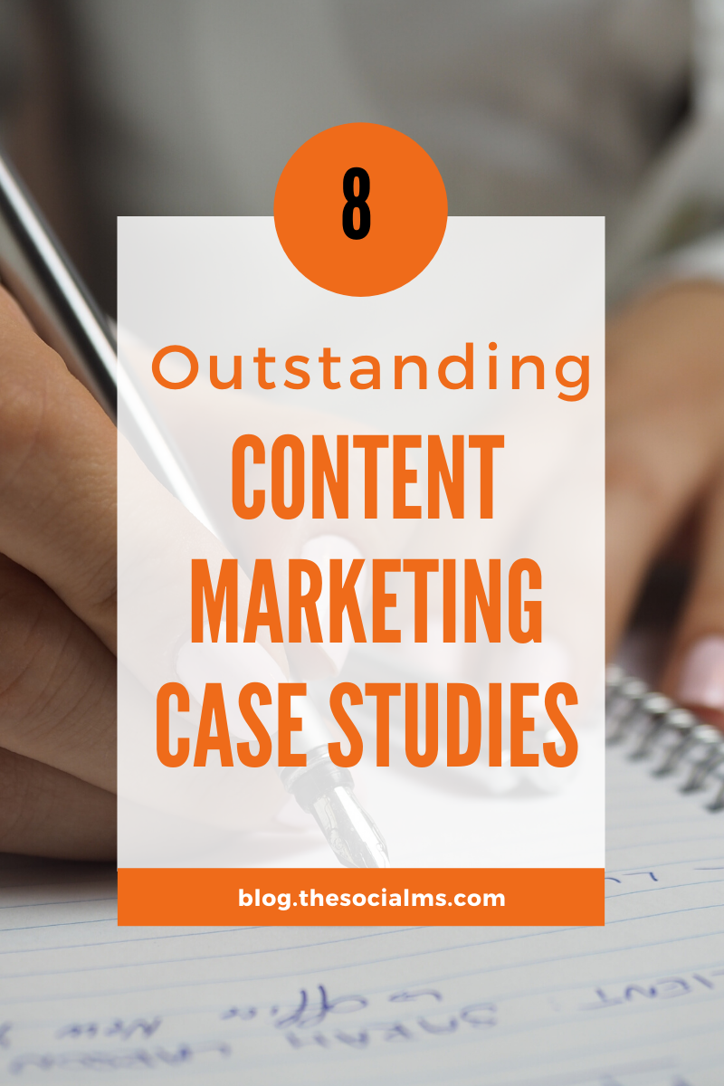Here are 8 content marketing case studies to show you a variety of goals, strategies, and achievements you may want to consider for your content marketing strategy. #contentmarketing #marketingcasestudy #marketingexamples #contentmarketingstrategy #marketingstrategy #onlinemarketing #smallbusinessmarketing