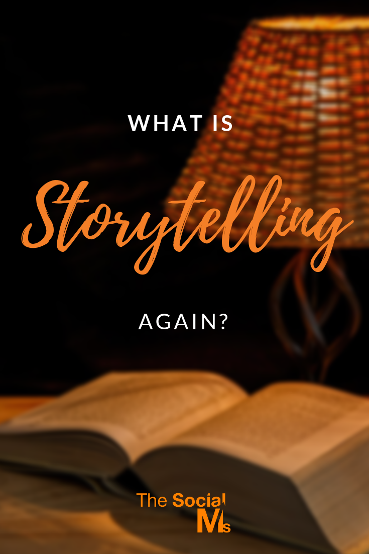 You probably heard about the importance of storytelling - but did you ever hear a definition and explanation of storytelling? #storytelling #contentcreation #blogpostcreation #blogwriting #contentmarketing
