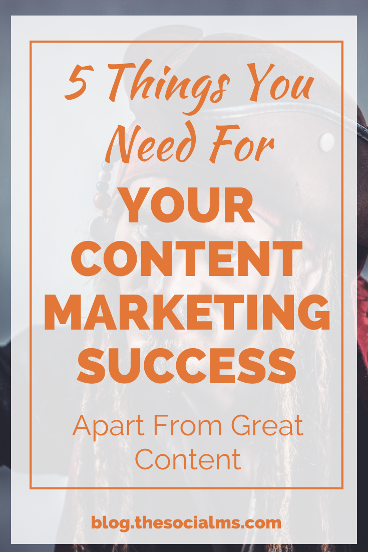 here are the 5 things to consider for your content marketing strategy – besides creating great content #contentmarketing #contentmarketingstrategy #marketingstrategy #onlinemarketing #