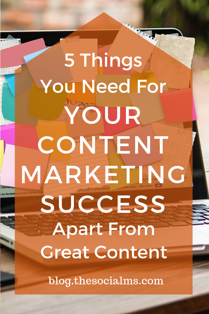 Far too many people still believe that content marketing is mainly about creating content and that the best content marketers are the best content creators. Sadly this can lead to utter failure in content marketing. Here are the 5 things to consider for your content marketing success – besides creating great content. #contentmarketing #contentmarketingstrategy #digitalmarketing #onlinemarketing