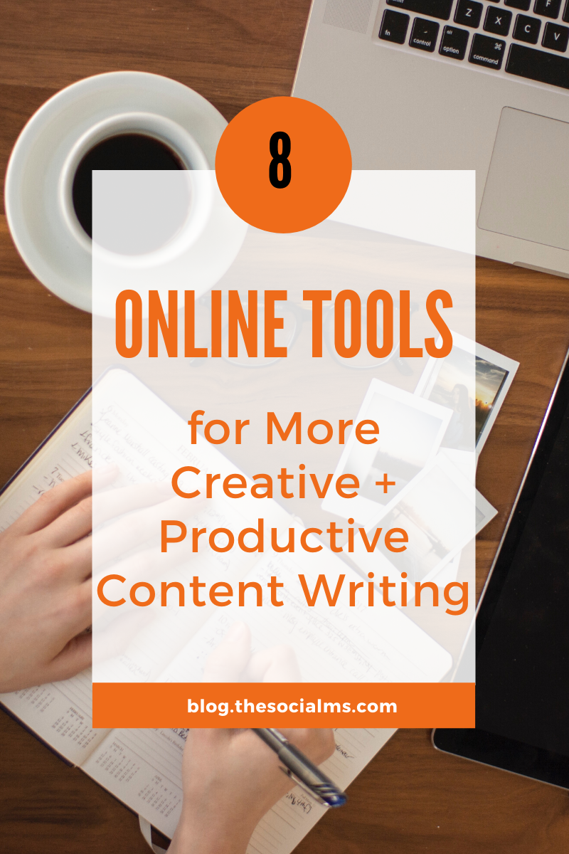 content writing usually follows a set schedule. What happens is that either content writers get writer's block, or they put it off as long as they could. It is all about being in the zone, you see, and sometimes the zone goes on vacation. With that, here are eight online tools that can help you become more creative, as well as productive, when you need to be. #contentmarketing #contentmarketingtools #contentwriting #blogpostcreation #blogwriting #bloggingtools