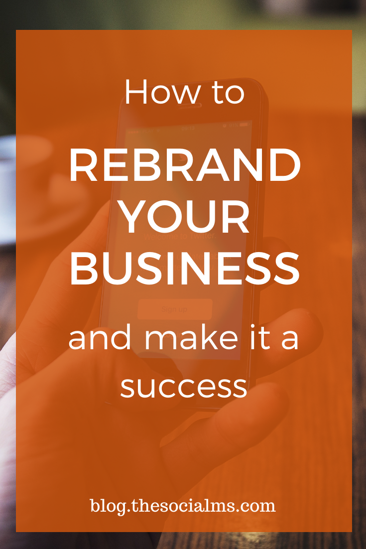 A business rebrand: Expect it to be time-consuming, tedious, and often overwhelming. If you're doing it for the right reasons, though, expect it to also be extremely rewarding, as it has been for us. Here is how to rebrand your business. #businessrebrand #branding #smallbusinessbranding #onlinemarketing #onlinebusiness