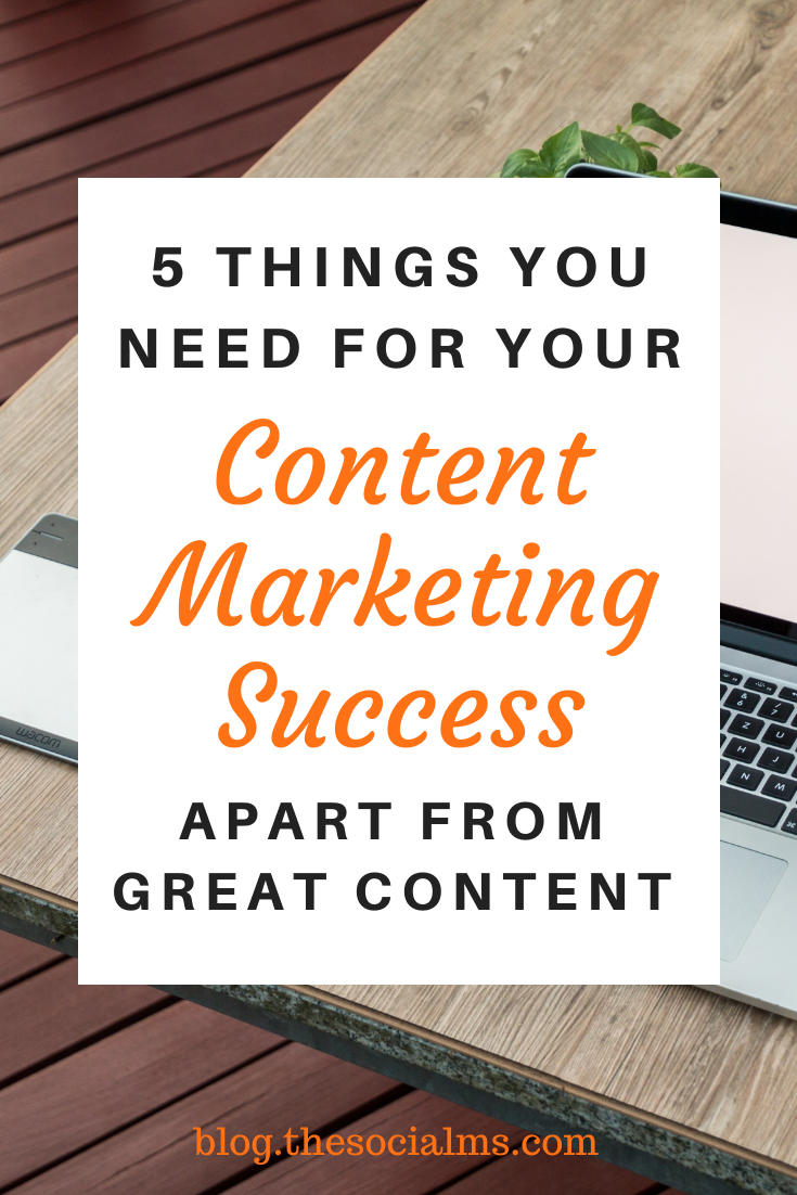 These five aspects combined with great content that matches the interests of your target audience is the foundation for your content marketing success. All you need now is persistence and the will to keep going #contentmarketing #digitalmarketing #onlinemarketing #marketingstrategy #smallbusinessmarketing #startupmarketing