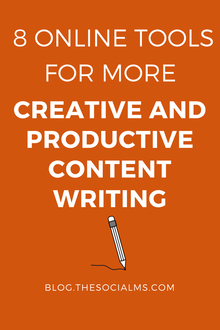 """Creative"" and ""productive"" are sometimes mutually exclusive concepts when it comes to content writing. These tools can help you with your content writing. content writing tools, content creation, content marketing, blogging tools"