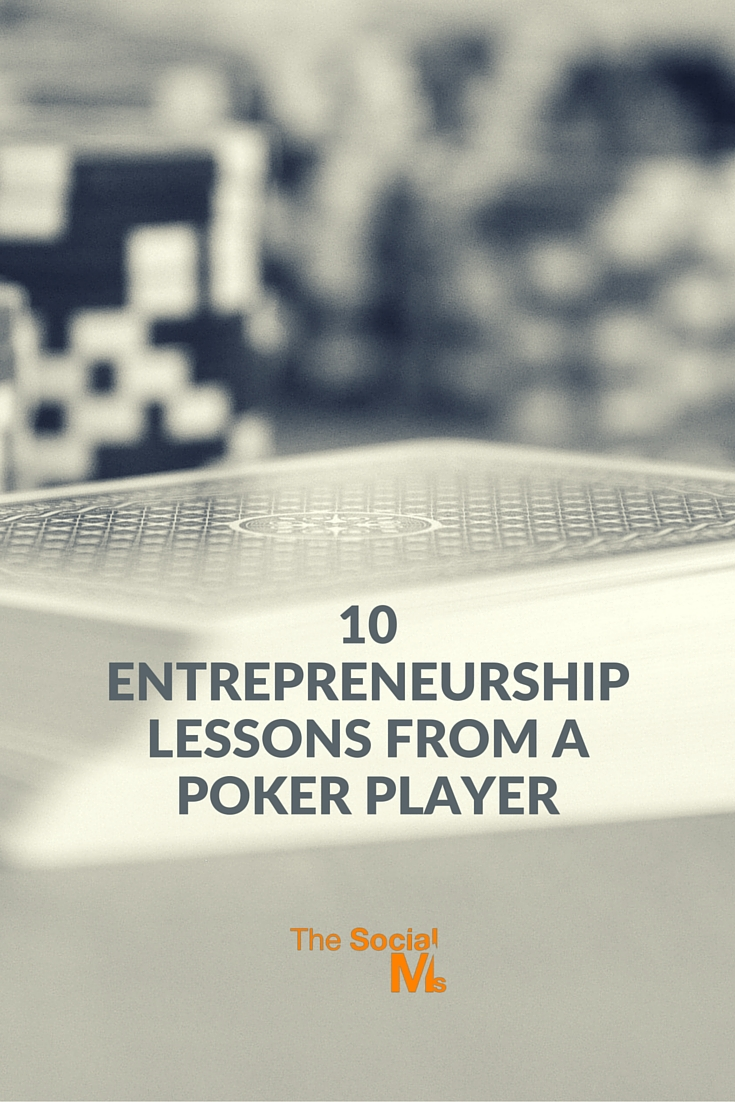 I'm an entrepreneur. I also love  poker - and I believe that poker holds many lessons that are valuable for almost every aspect of entrepreneurship.