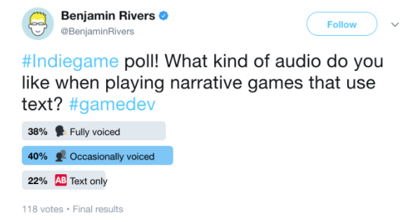 Twitter poll example Rivers
