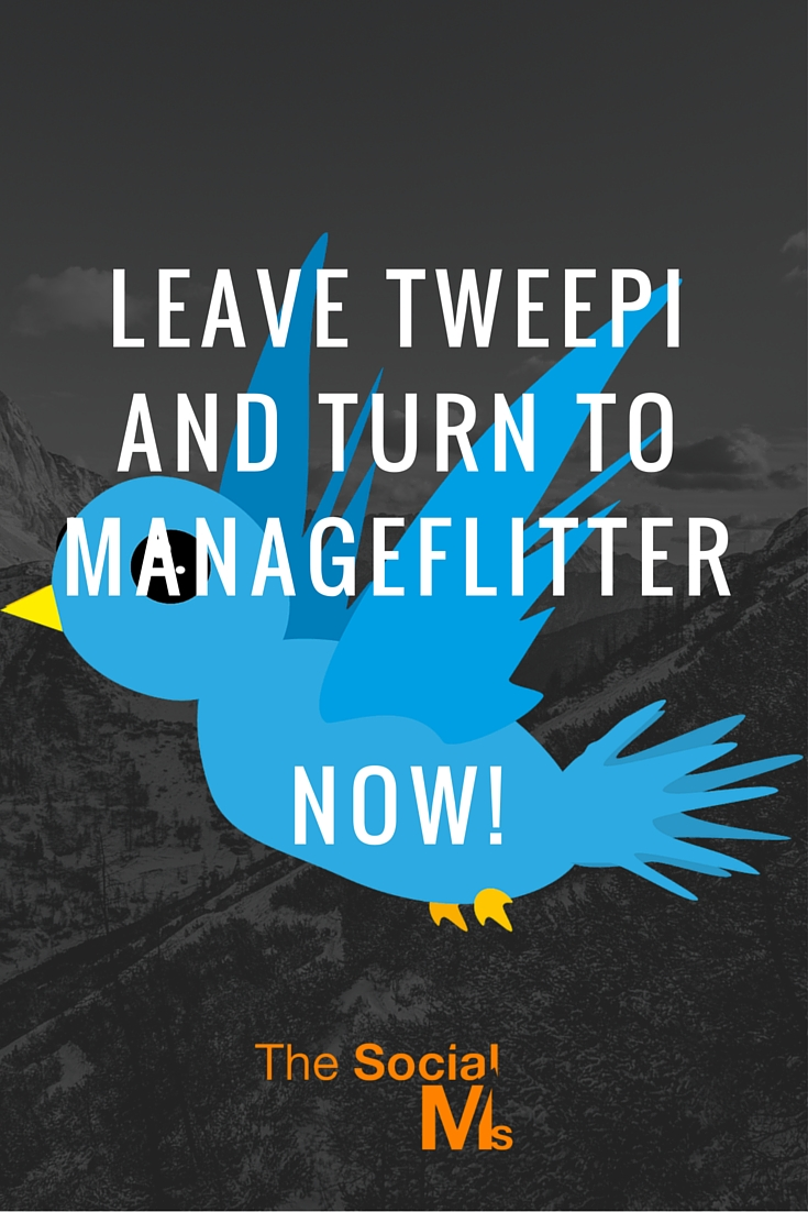 Today I decided never again to use Tweepi and use ManageFlitter for all our Twitter accounts.Take a look at ManageFlitter's PowerMode.