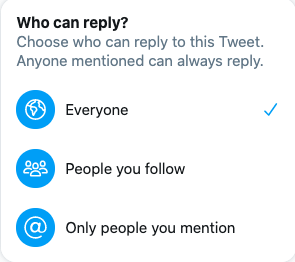 Choose who can answer your twitter poll