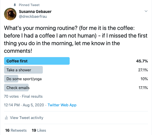 Twitter poll example humor