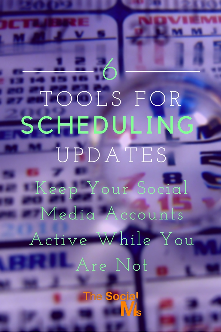 Scheduling updates in social media is very powerful. It will help you save time and be active while you are busy with your job - or not busy at all.