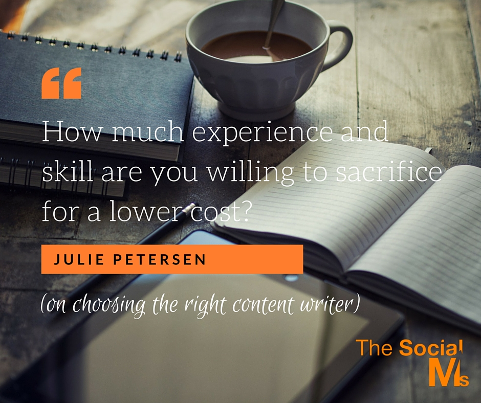 Skill vs cost Quote Julie Petersen