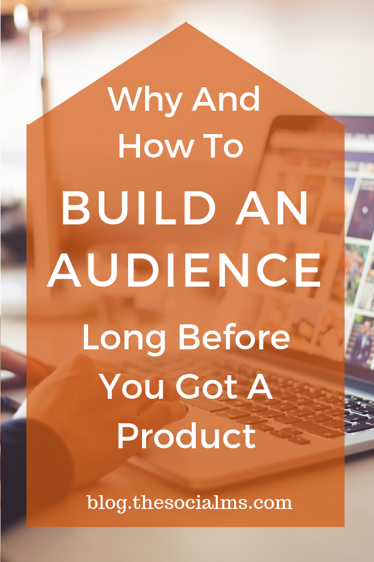 Here are some ideas for you to build an audience, before you have your product – or if you do not have a product at all. #bloggingtips #socialmediatips #audiencebuilding #digitalmarketing #onlinebusiness