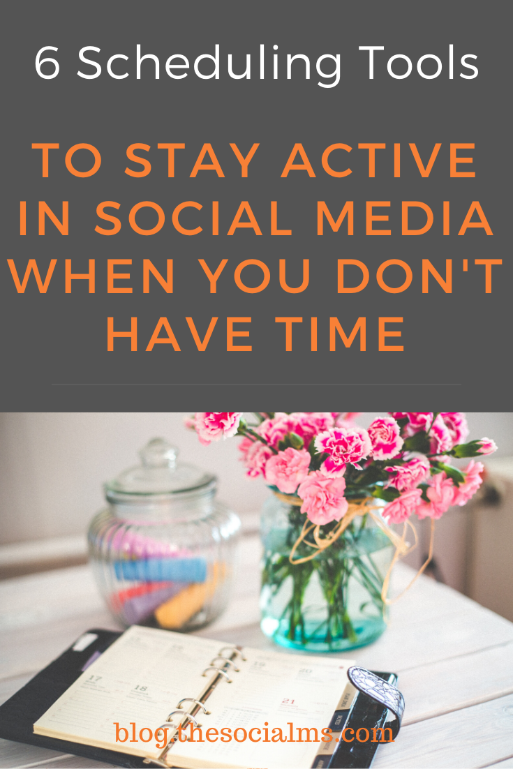 Here are 6 tools that help you schedule your social media updates. Keep your social accounts active and save a ton of tim #scheduling #marketingtools #onlinemarketing #socialmediatips #socialmediatools #socialmediamarketing