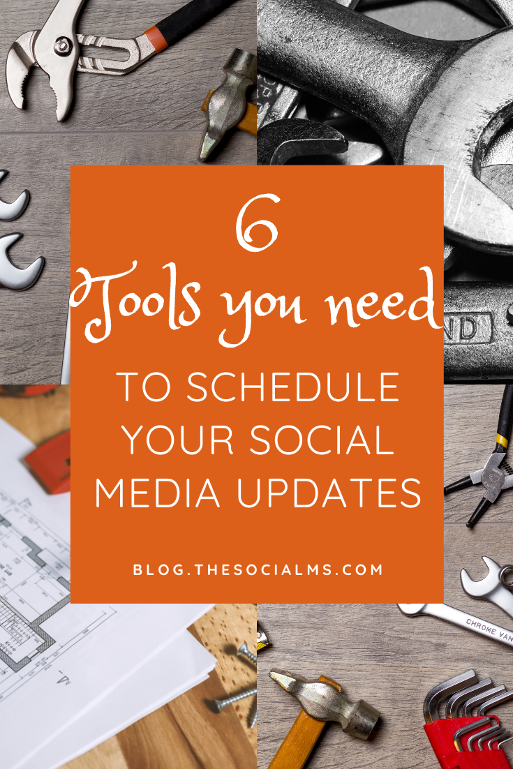 Here are 6 tools that help you schedule your social media updates. Keep your social accounts active when you are busy working on your business and cannot spend hours on end on social media. #socialmediatools #socialmediascheduling #socialmediatips #socialmediamarketing #socialmedia #marketingtools #bloggingtools #onlinemarketing