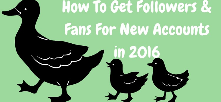 9 Ways To Get Followers Fans For New Accounts in 2016