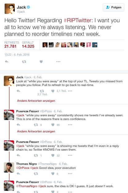 Jack Dorsey on RIPTwitter