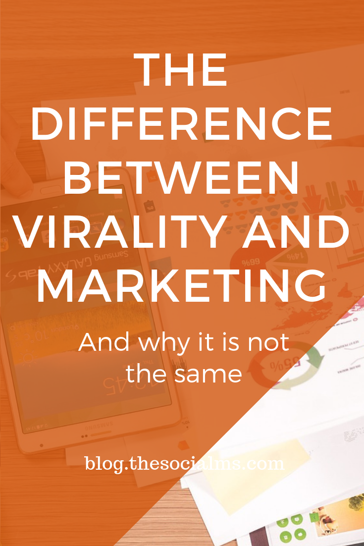 Something can totally go viral and not fulfil the marketing purpose at all. Something turning viral simply is NOT a marketing strategy - and here you learn why. #marketingstrategy #onlinemarketing #digitalmarketing #virality #viralmarketing