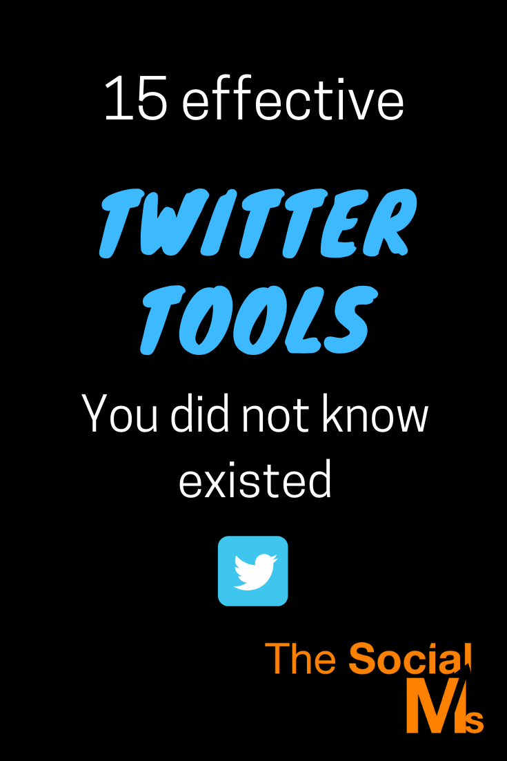 There are endless Twitter tools, all of them make our life on Twitter easier and m ore attractive in one or more aspects. For every purpose, there is another tool. Here are 15 effective tools for Twitter that you probably haven't heard about yet. #twitter #twittertool #twittertips #twittermarketing #socialmedia #socialmediatools #socialmediatips #socialmediamarketing