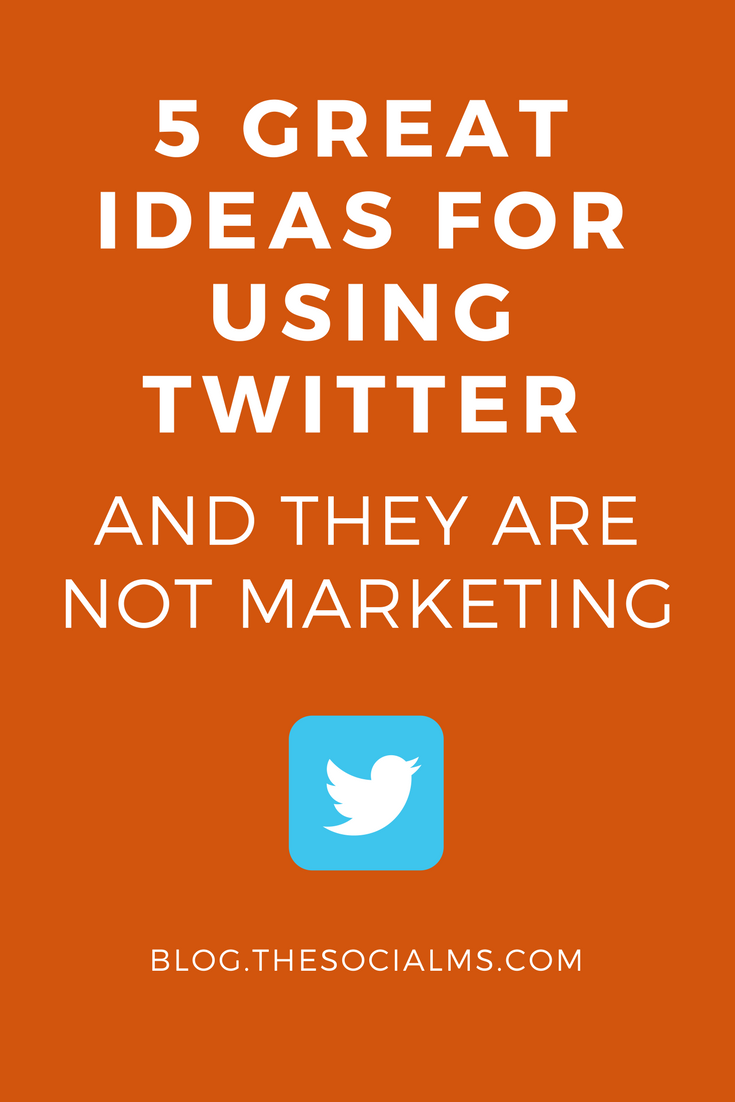 There are multiple was for using Twitter that are not marketing. Not being active on Twitter means missing out on an enormous opportunity. twitter marketing,