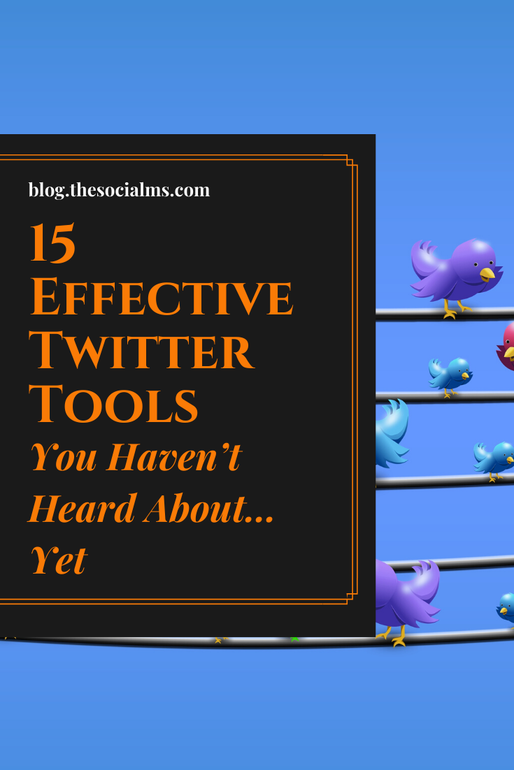 there are more Twitter tools you probably do not know yet, and these tools can make your Twitter life much easier – and much more diverse. Here are 15 effective tools for Twitter that you probably haven't heard about yet. #twitter #twittertools #twittermarketing #twittertips #socialmedia #socialmediatools #socialmediamarketing