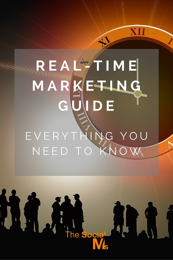 Real-Time Marketing capitalizes on the spur of the moment. It is a whatever happens, kind of marketing that can work to a business' advantage.