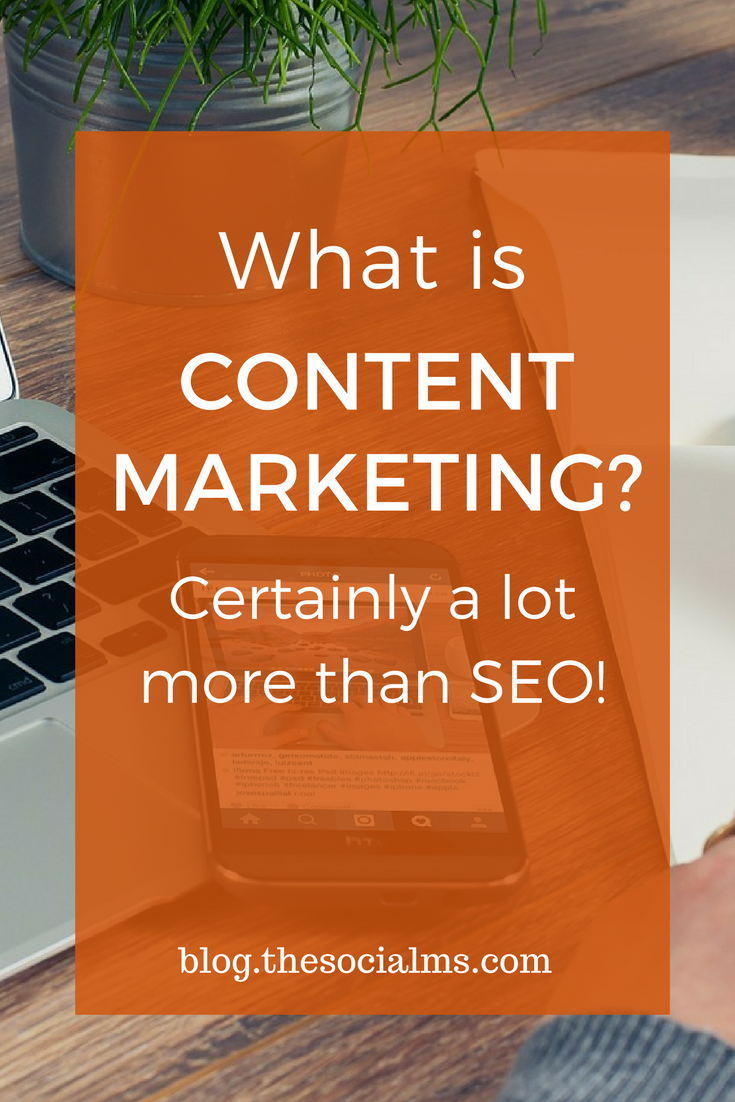 Content marketing deserves a little more focus on what it is and what it can do for you. Content Marketing is a lot more than creating content for SEO. content marketing tips, content marketing ideas, content marketing plan, blogging + content marketing, best content marketing